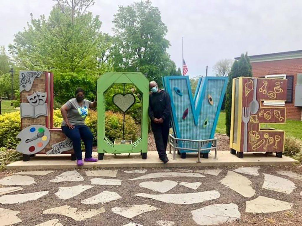 VA Love signs - Hurkamp Park