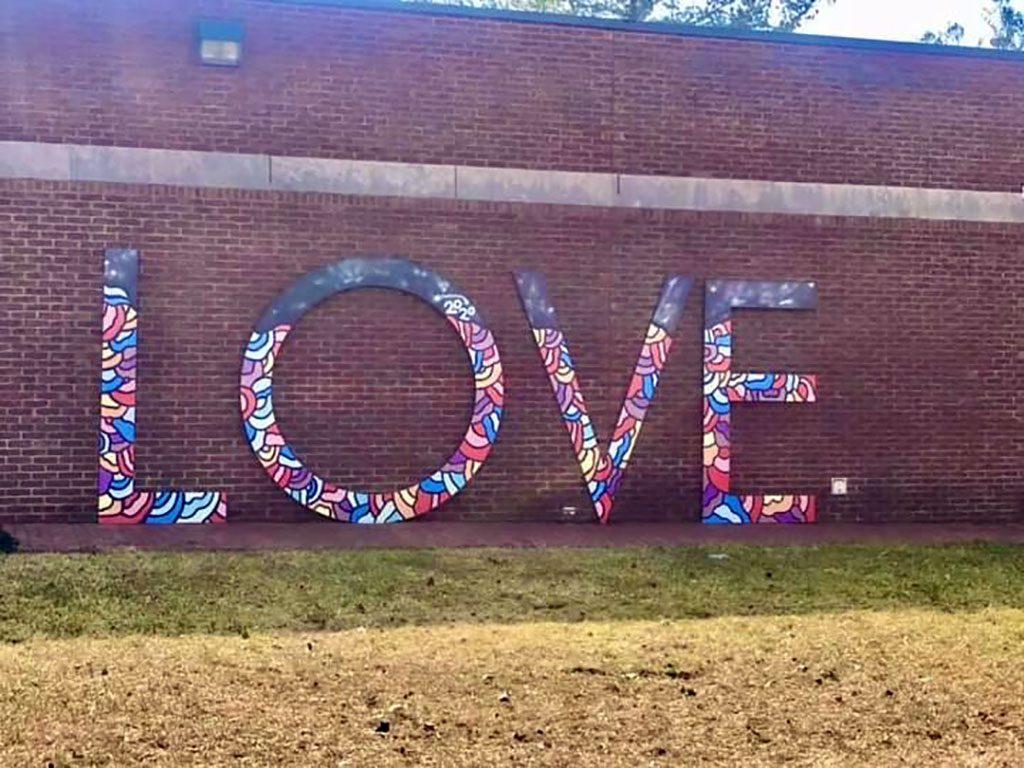 Manassas Museum VA LOVE sign