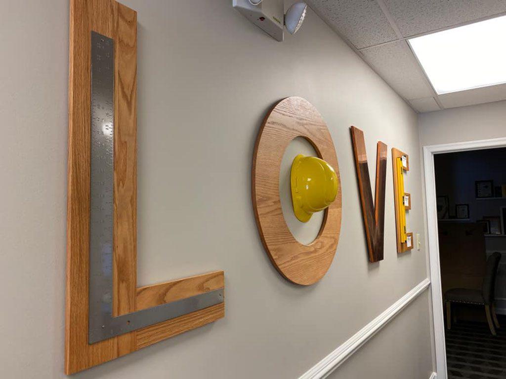 Matern Staffing, Inc. Virginia LOVE signs