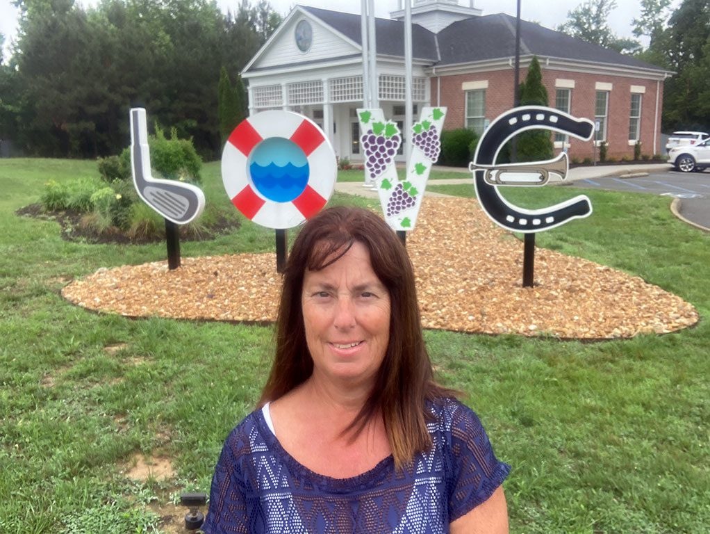 New Kent Visitors Center LOVE sign in Virginia