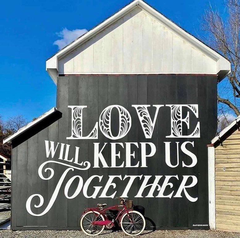 Old Lucketts Store LOVE sign in Leesburg Virginia
