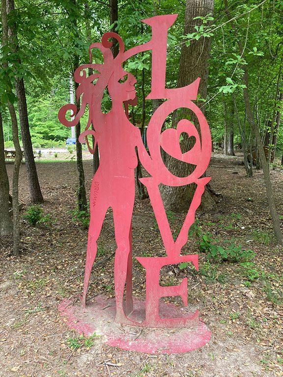 Quirks of Art in Williamsburg VA LOVE sign