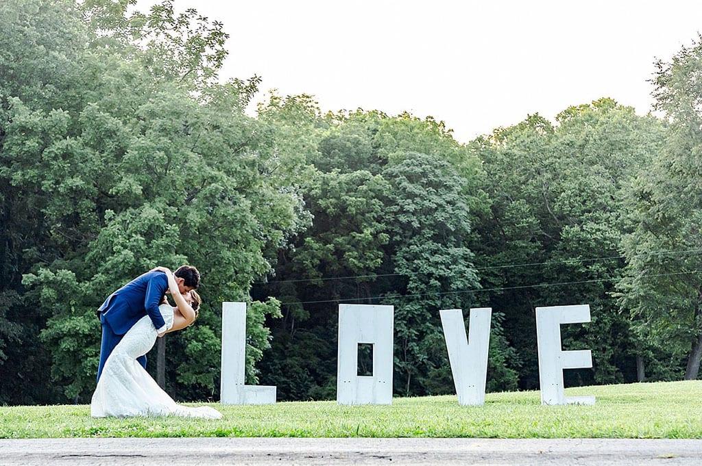 Virginia LOVE Sign at White's Ferry Manor in Leesburg VA