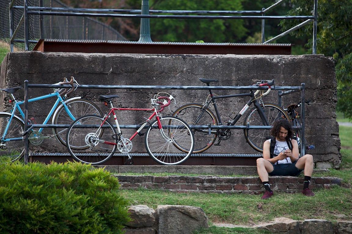 Bike on Browns Island in Richmond VA