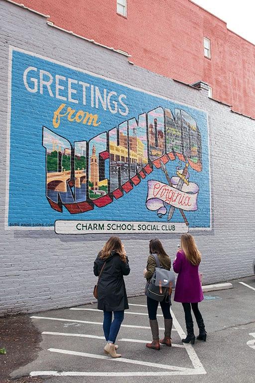 Greetings from Richmond mural in Richmond VA