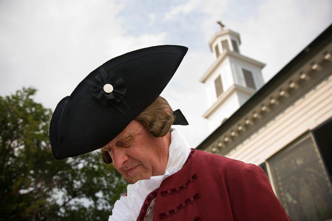 July 4th Richmond VA Patrick Henry reenactment at St. John's Church