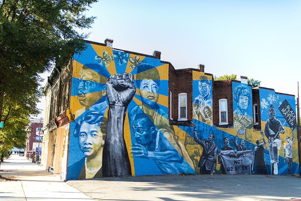 Mending Walls Together We Rise murals in Richmond VA