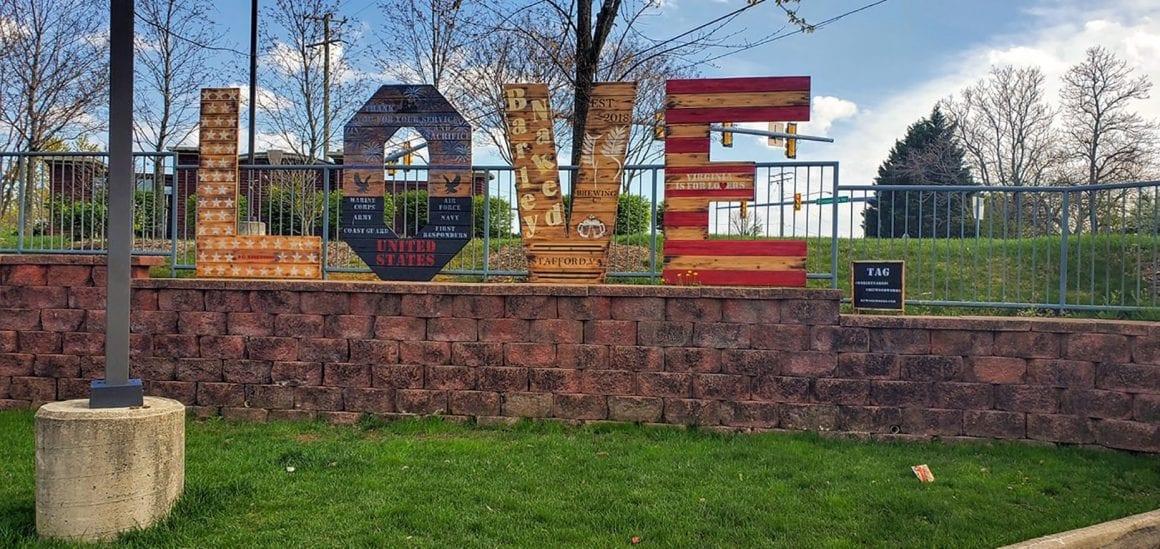 Virginia LOVE Signs in Stafford VA