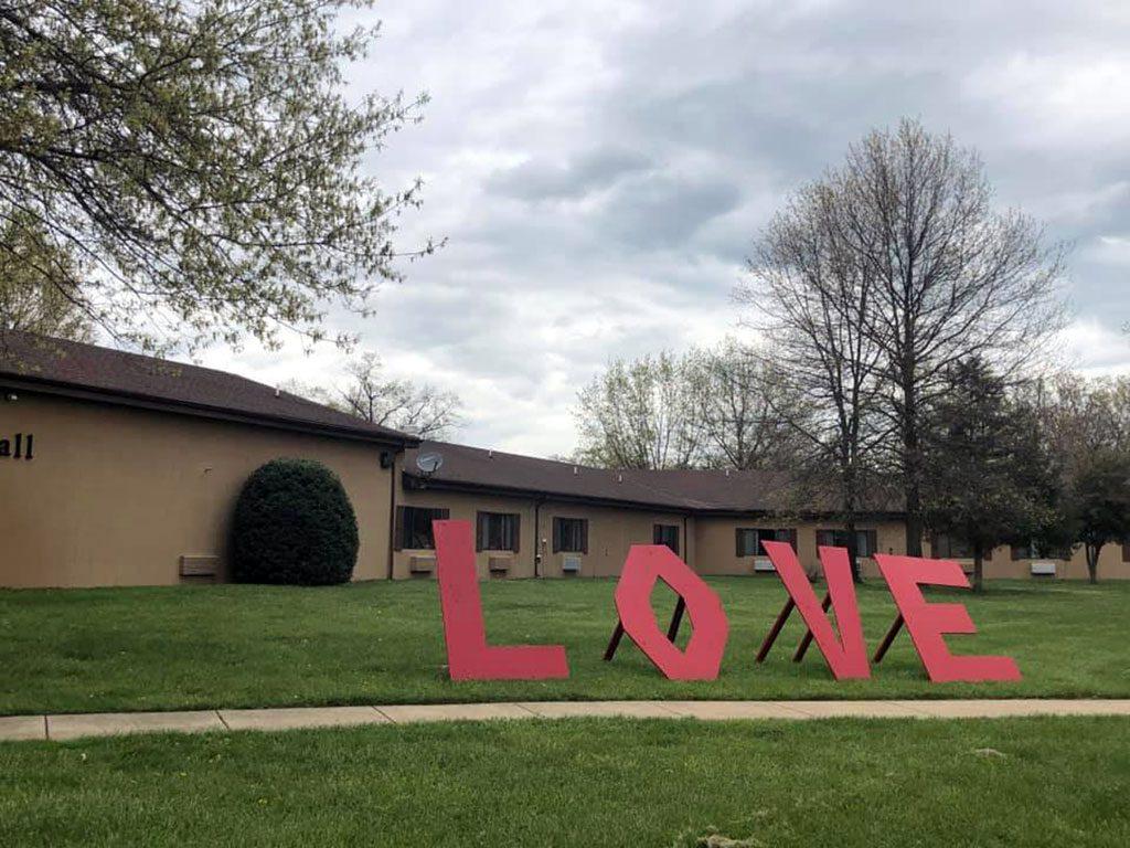 Heritage Healthcare LOVE sign in Virginia