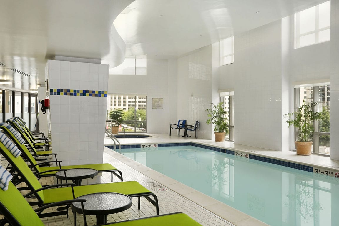 Indoor Swimming pool at the Embassy Suites by Hilton Washington DC Convention Center