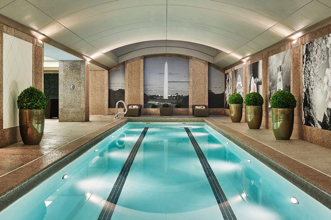 Swimming pool at Four Seasons DC in Washington DC