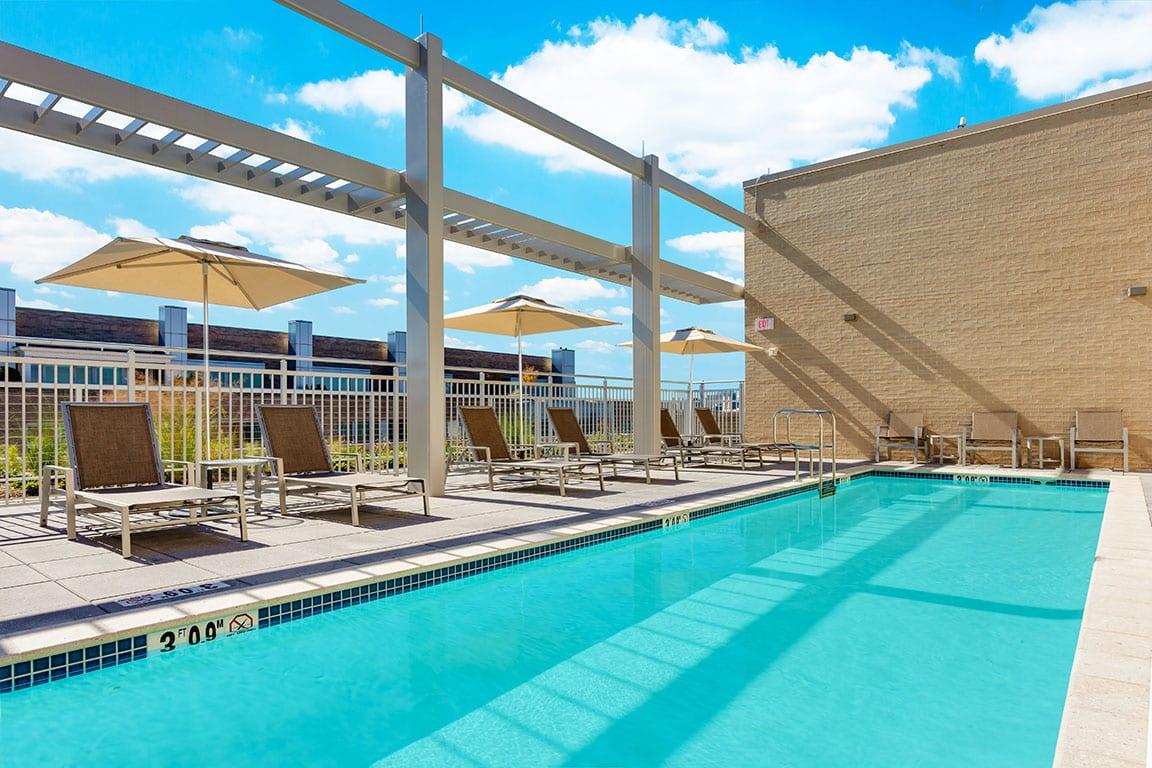 Hilton Garden Inn Washington DC Georgetown Area outdoor swimming pool in Washington DC