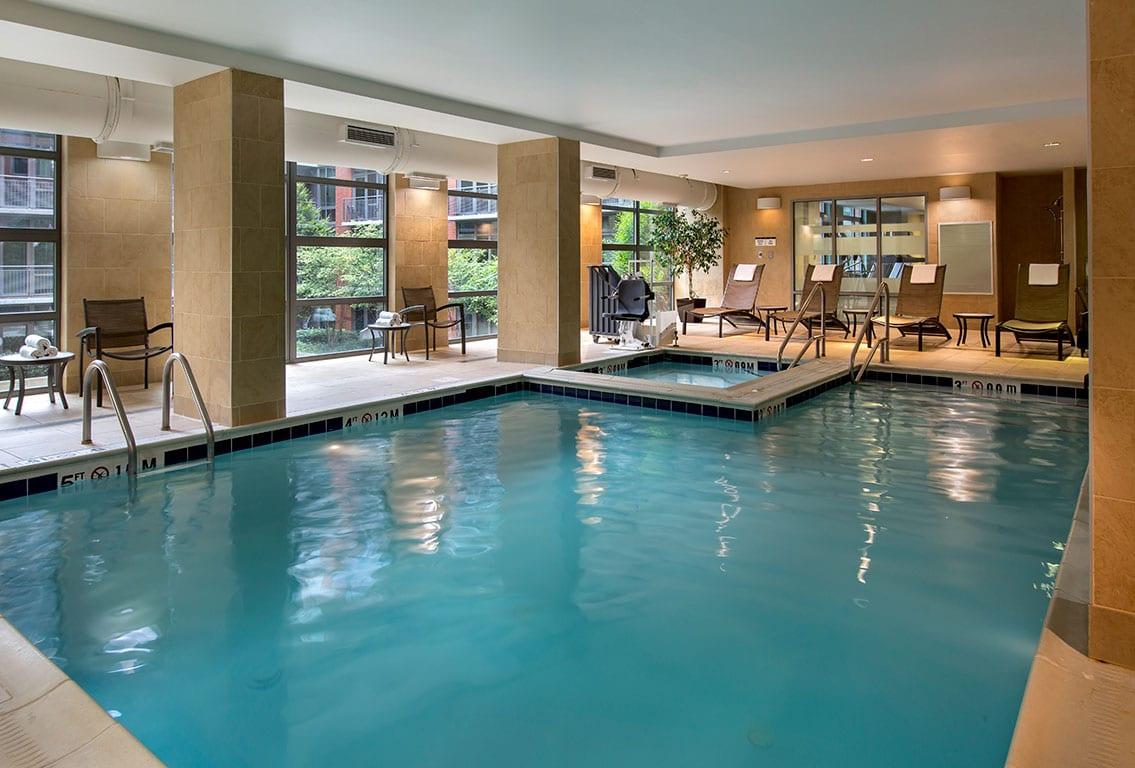 Washington DC Indoor pool at the Hilton Garden Inn Washington DC US Capitol