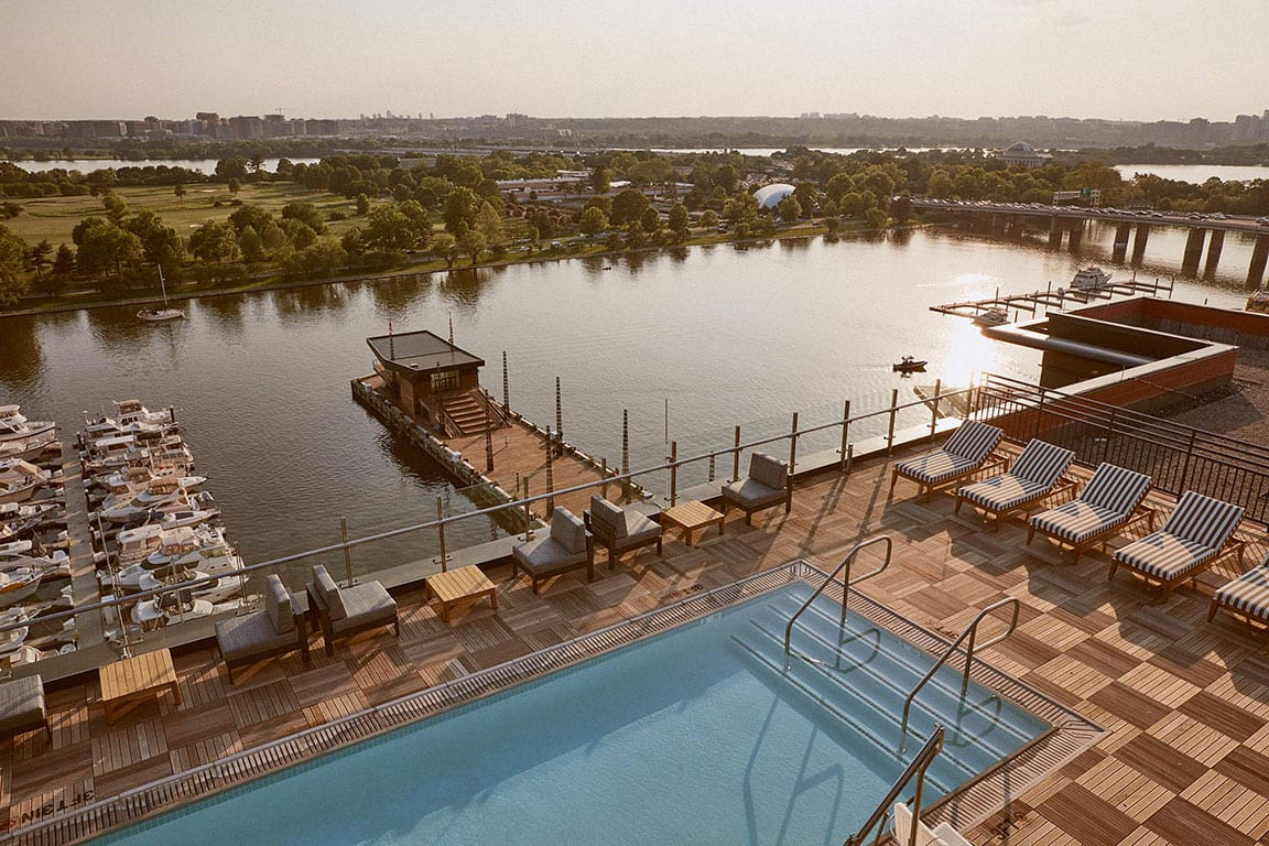 Swimming pool at the Intercontinental- the WHARF in Washington DC