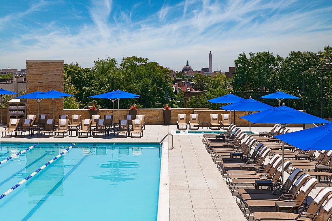 Outdoor Pools in DC at the Washington Hilton in Washington DC