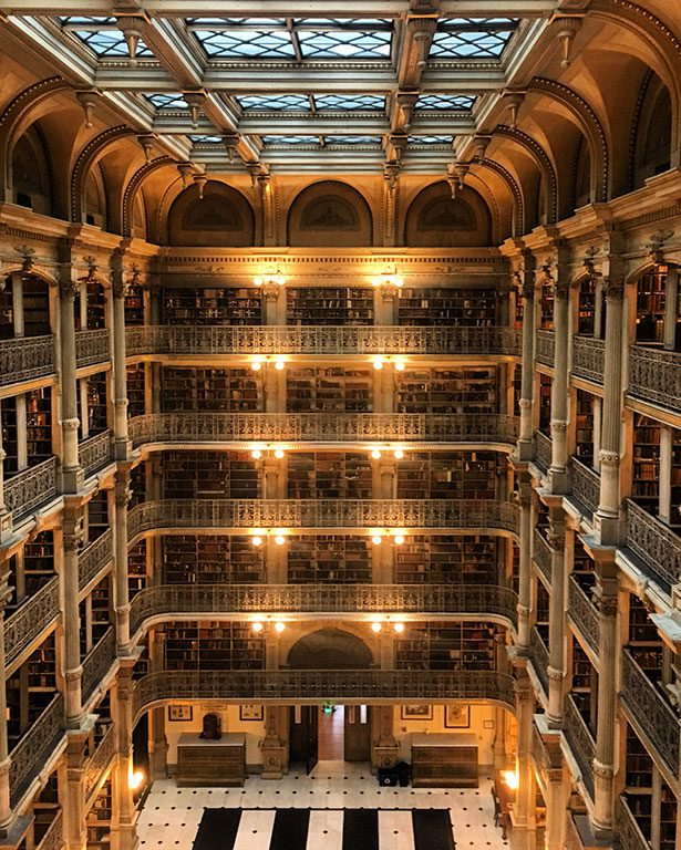 George Peabody Library in Mount Vernon Baltimore Maryland