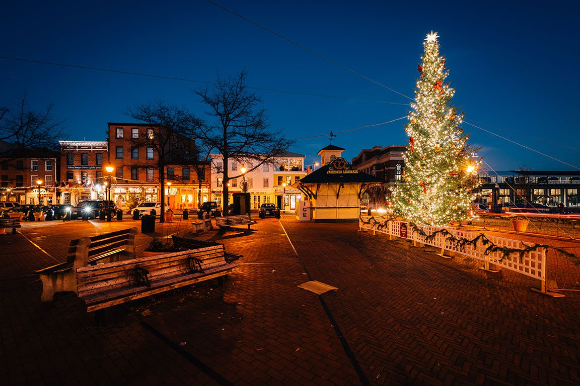Christmas in Fells Point Baltimore Maryland