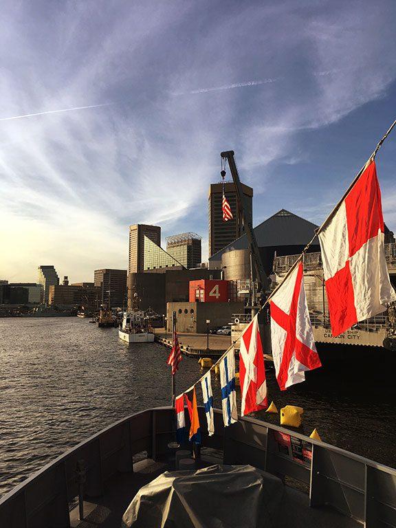 Fleet Week at the Inner Harbor Baltimore Maryland