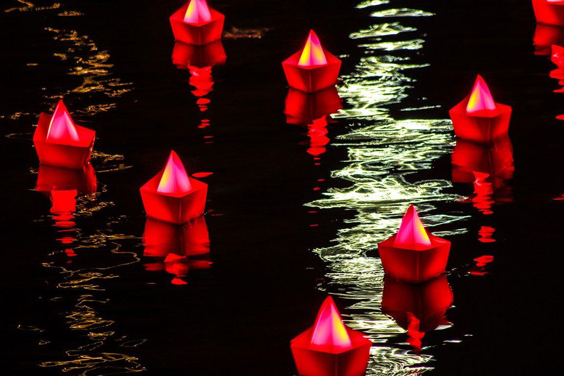 Light Festival at the Inner Harbor Baltimore Maryland