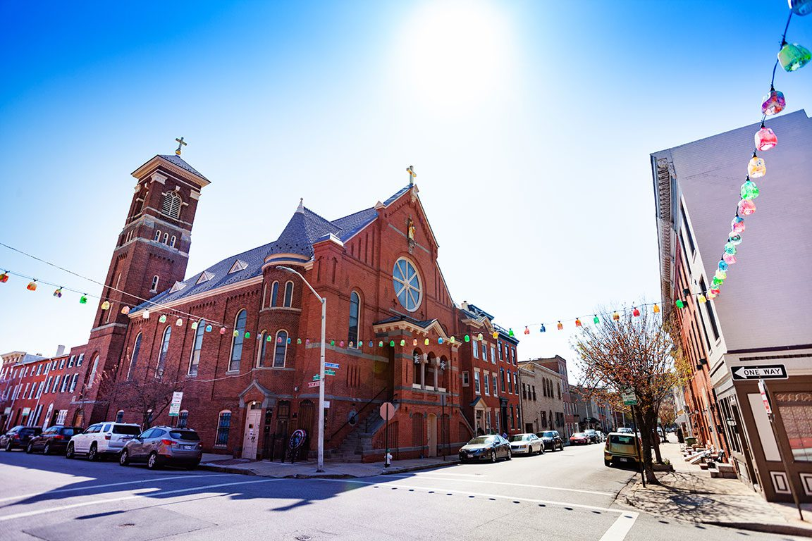 Little Italy St. Leo's Church in Baltimore Maryland