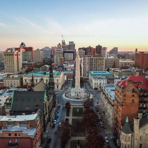 Mount Vernon Baltimore- aerial image