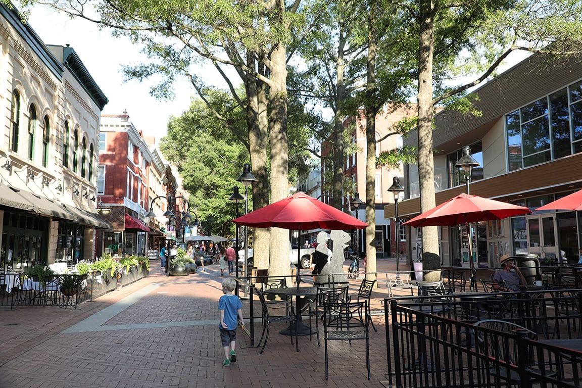 Downtown Charlottesville VA
