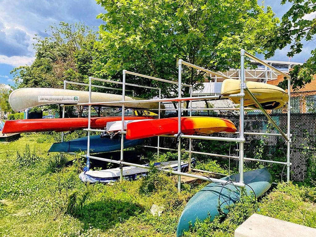 Kayaks at the Yards in Washington DC