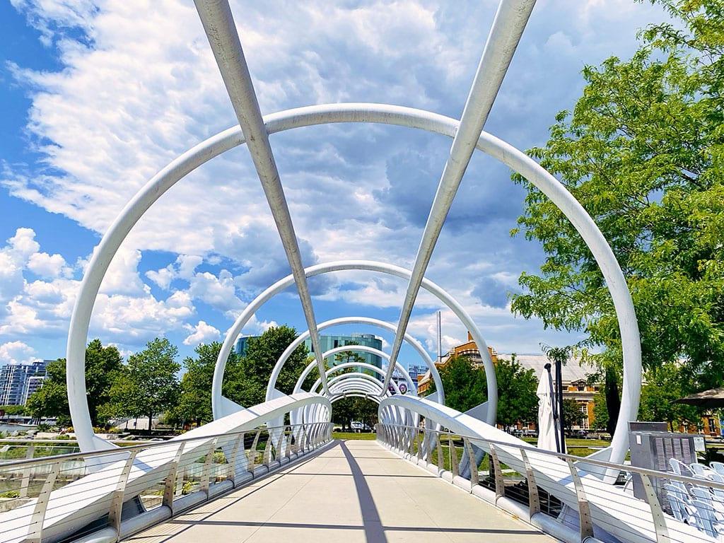 Yards Park Bridge in Navy Yard Washington DC