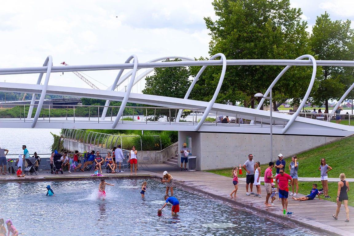 Yards Park wading pool in Washington DC