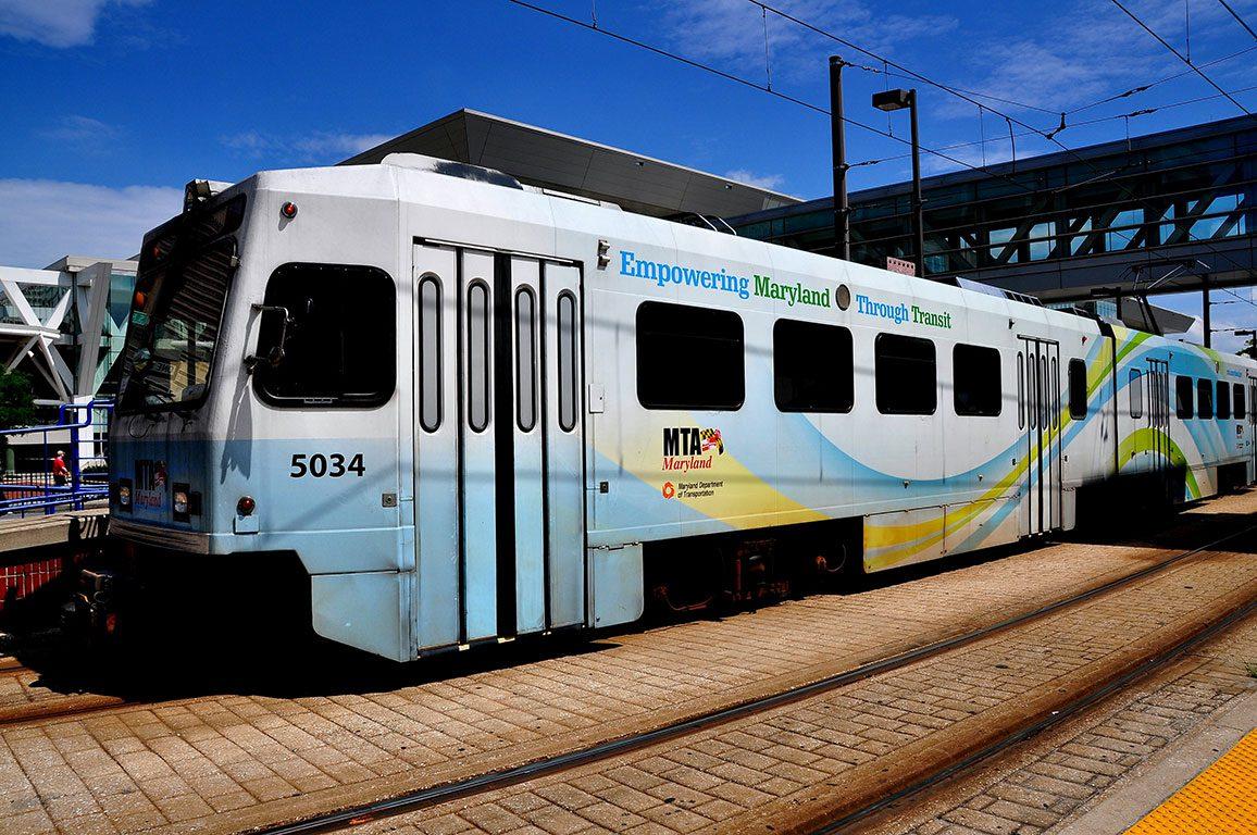 Light Rail in Baltimore Maryland