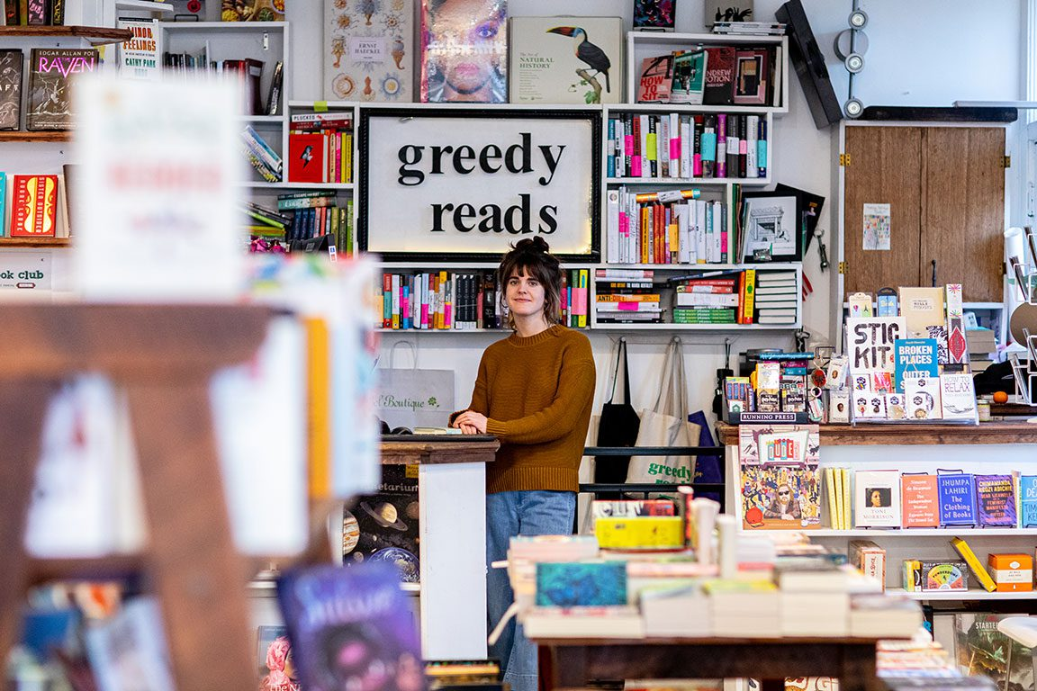 Greedy Reads bookstore in Baltimore Maryland