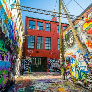 Baltimore Graffiti Alley in Maryland