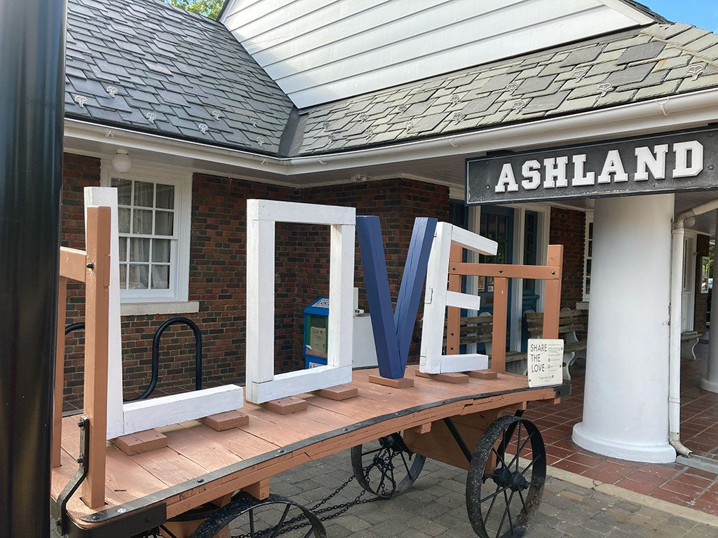 Ashland Virginia LOVE sign