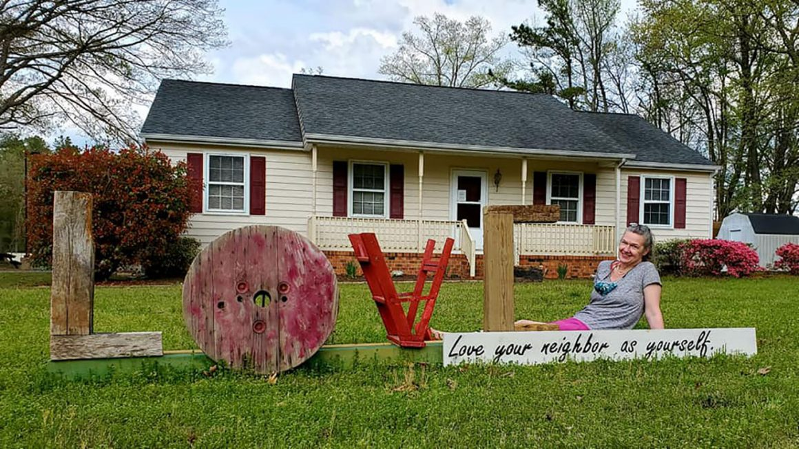 Bethia United Methodist Church LOVE sign in VA