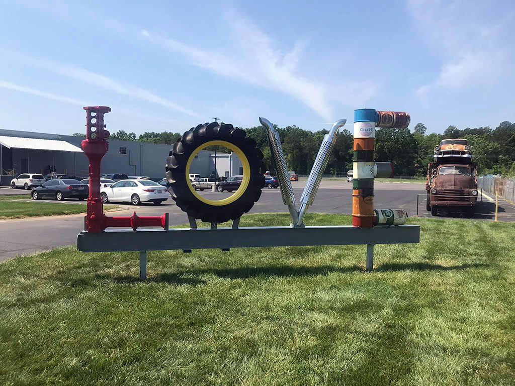 Keystone Antique Truck and Tractor Museum LOVE sign in VA