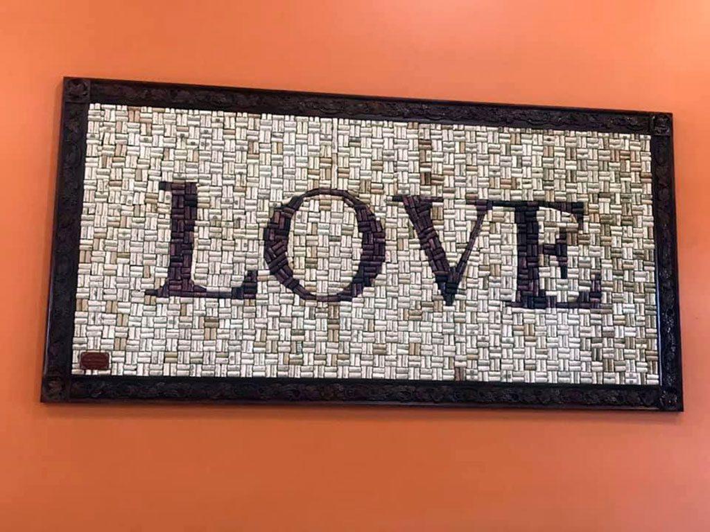 Castle Glen Winery LOVE sign in VA