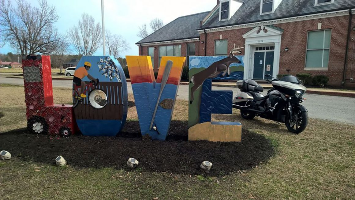 Charles City Courthouse Road LOVE sign